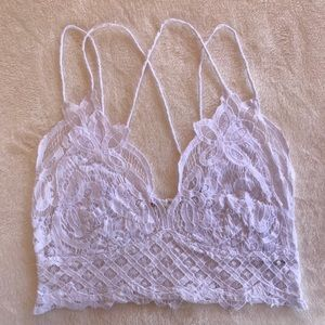 Free People Adella Bralette. White.